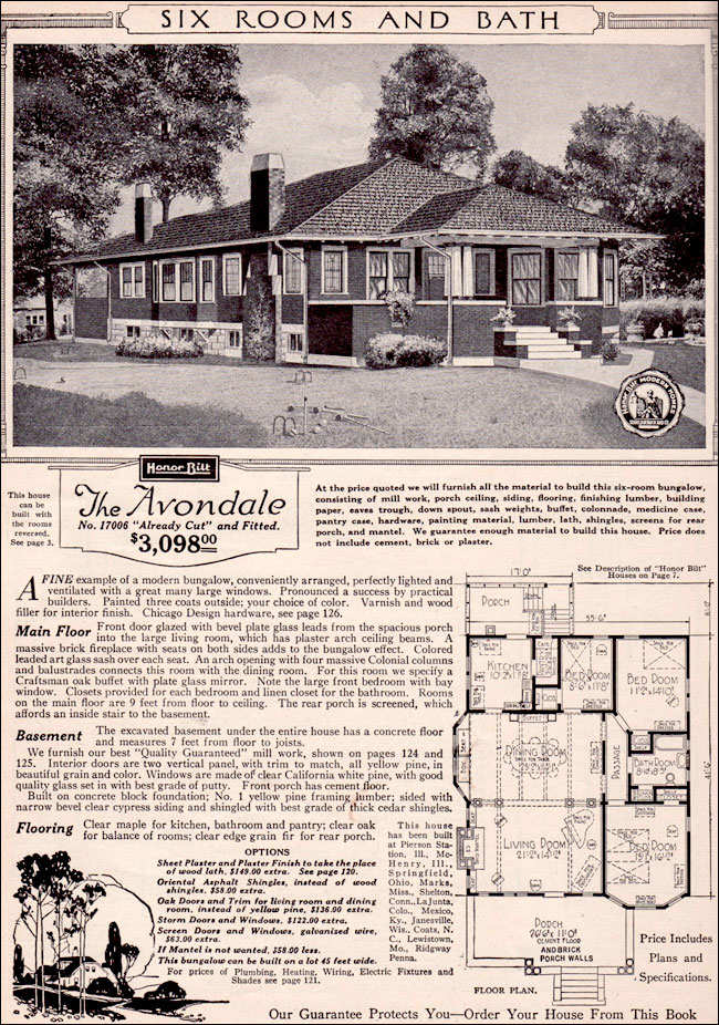 1923 Sears Modern Homes - Avondale