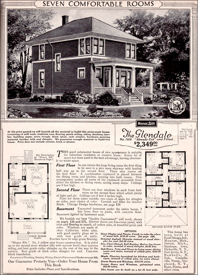 The Glendale, offered by Sears in its 1923 catalog of kit houses and plans,