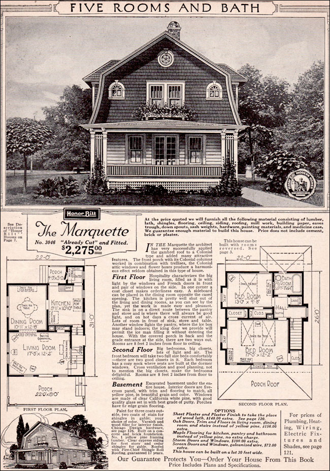 Sears dutch colonial house plans for Vintage house plans 1900
