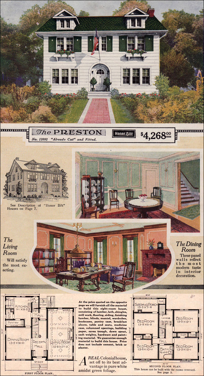 modern colonial revival 1923 sears preston kit house side gable eclectic entry. Black Bedroom Furniture Sets. Home Design Ideas