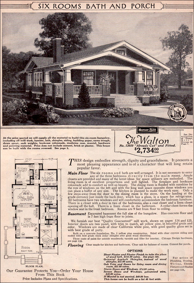 Honor Bilt Homes by Sears - 1928 - English - Bungalow - Colonial Plans