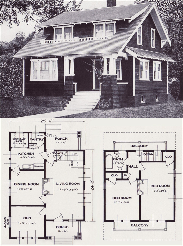 1920s vintage home plans the alta vista craftsman style for Standard home plans