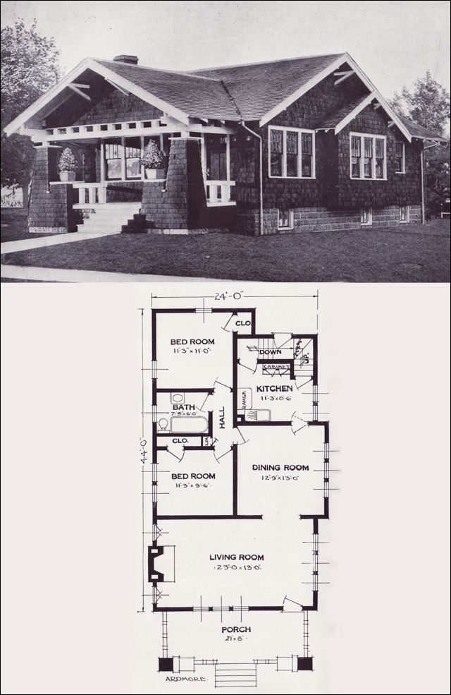1920s vintage home plans the ardmore standard homes for Standard home plans