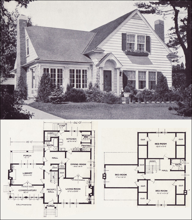 1920s vintage home plans the collingwood standard for Old home plans