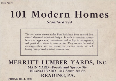 Title Page of Standard Homes Collection for 1923