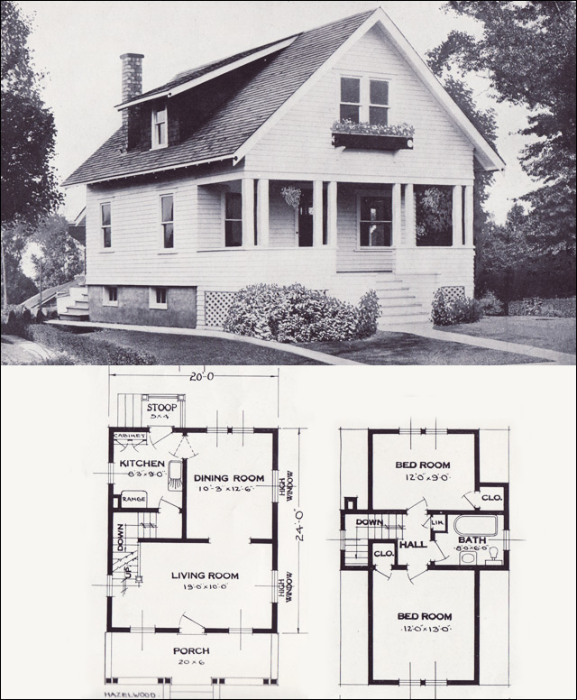 The hazelwood transitional bungalow 1923 standard for Standard home plans
