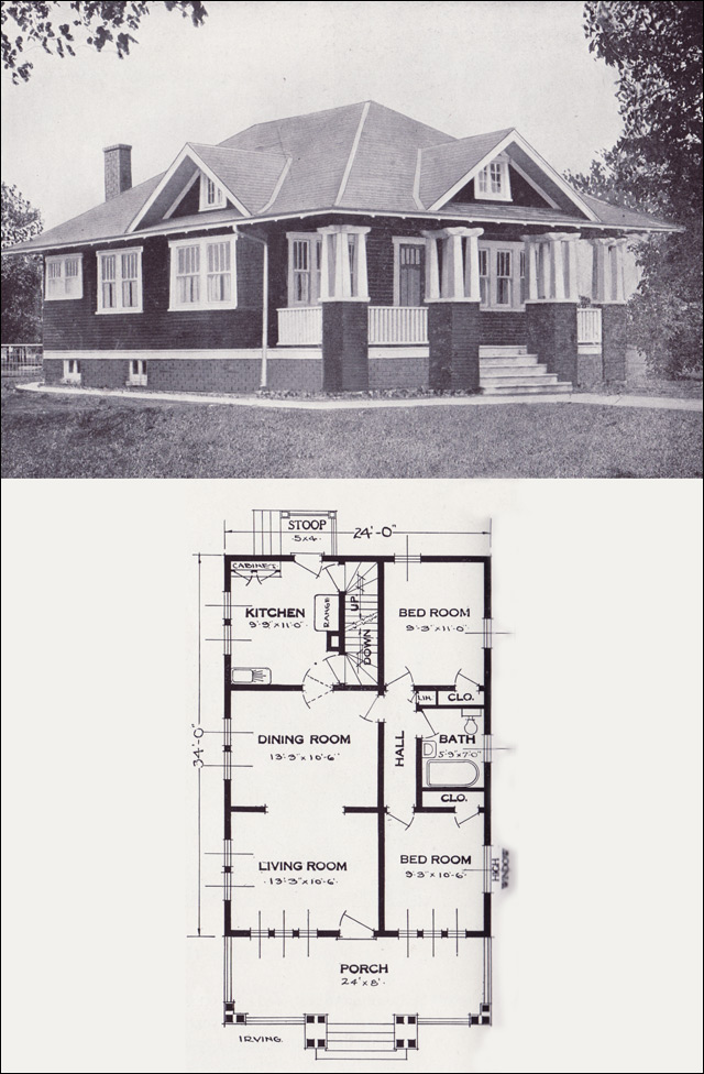 1923 craftsman style bungalow the irving by standard for Standard homes plans