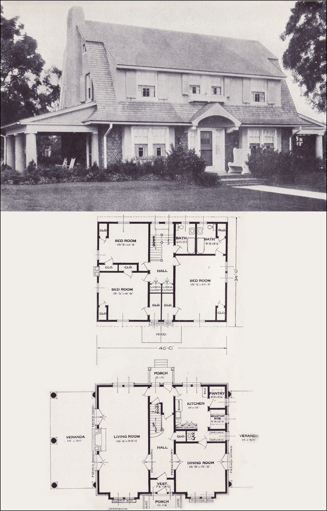 The jefferson 1923 standard homes company house plans for Standard home plans