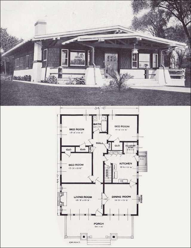 Asian influence bungalow the orient 1923 standard for Standard homes plans