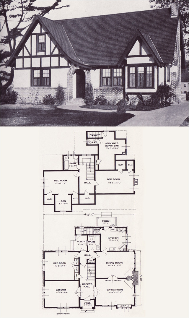 The stratford english revival tudor style 1923 for Standard home plans