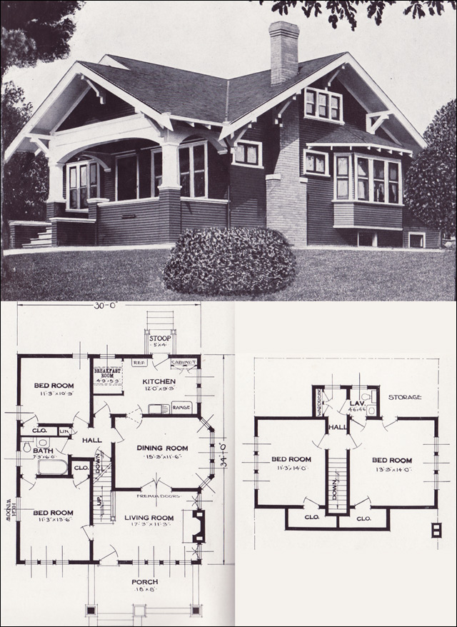 The Varina 1920s Bungalow 1923 Craftsman style from