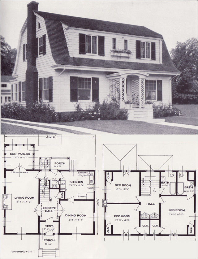 1920s vintage home plans dutch colonial revival the 1922 clarendon by bennett homes dutch colonial revival