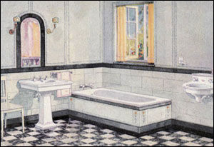Bathrooms - Vintage Homes - 1900 to 1950 - Old Houses on early 1900 bathroom design, 1800s kitchen design, 1910 kitchen design,