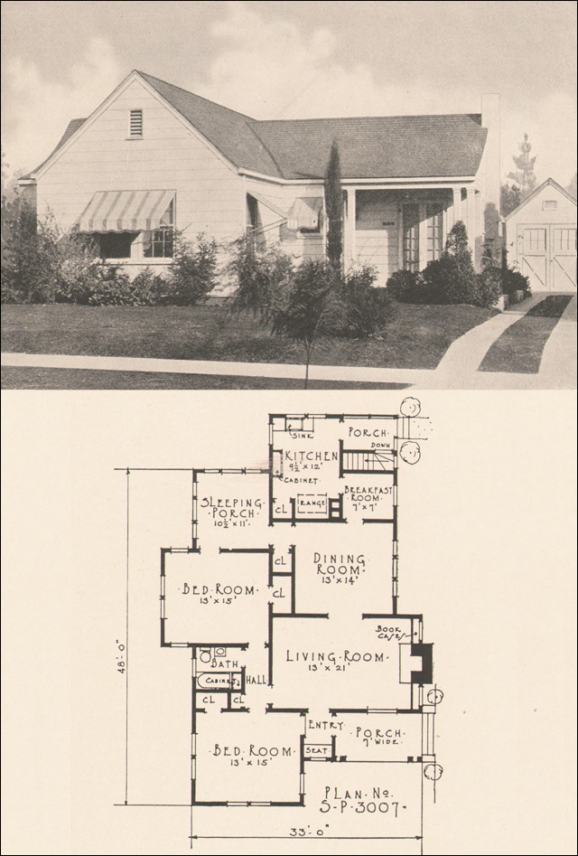 1924 Modern Traditional House Plan Early Minimal
