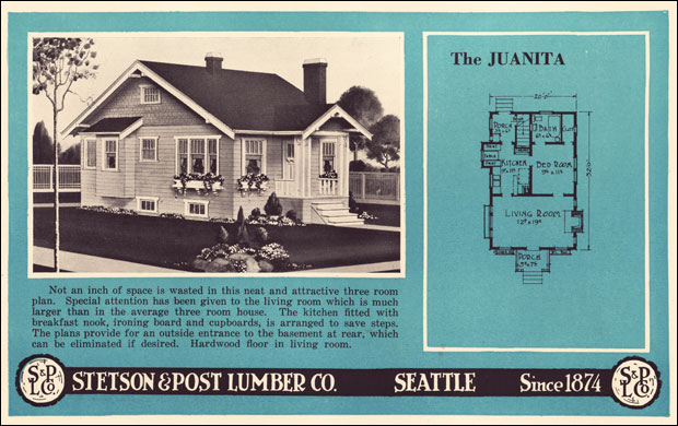 1924 tiny bungalow cottage stetson post seattle wa for Stetson homes floor plans