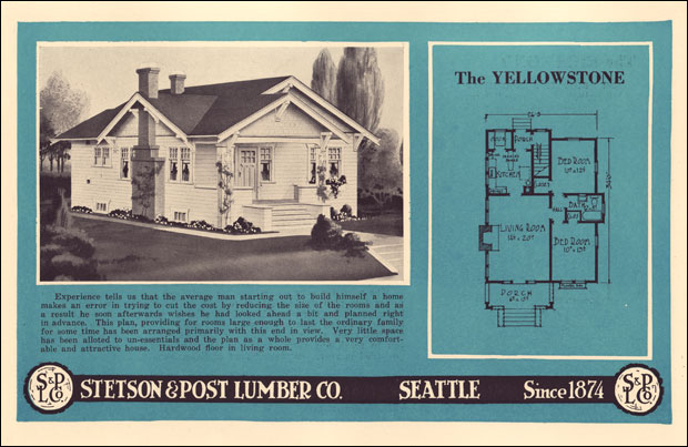 Small bungalow cottage c 1924 stetson post 1920s for Stetson homes floor plans