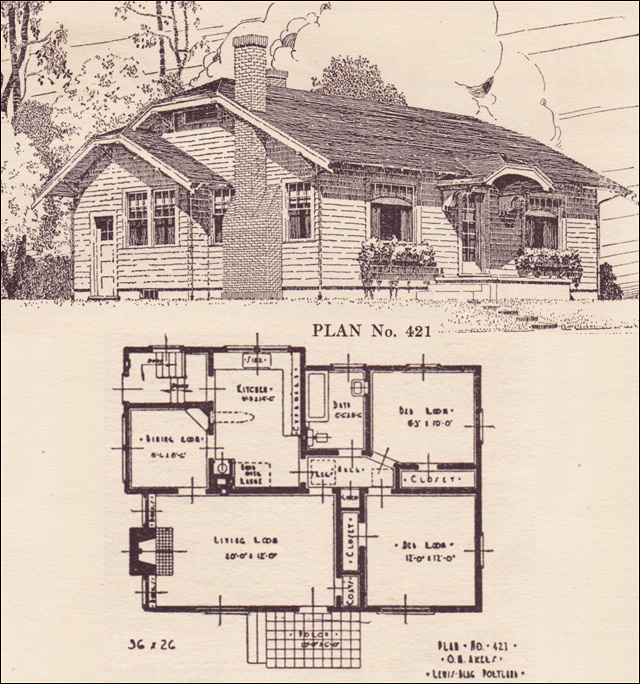 1924 Clipped Gable Cottage House Plans The Portland