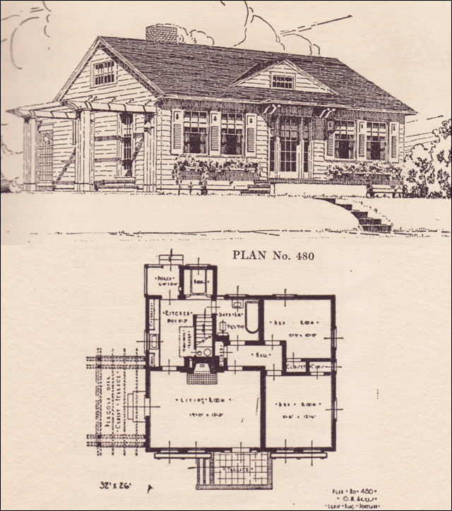 modernized colonial cottage - house plans - the portland telegram