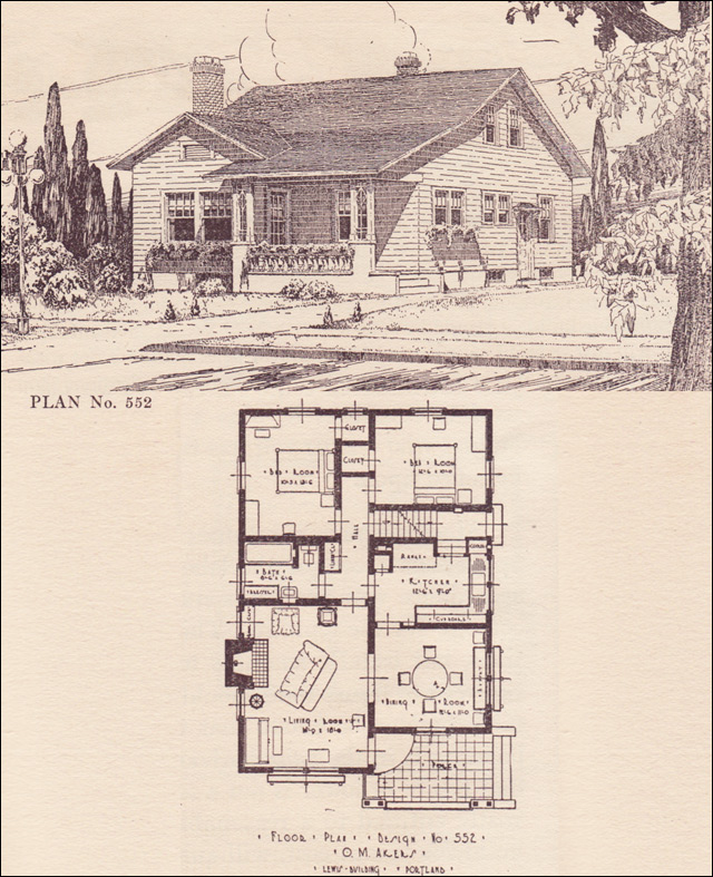 1924 Portland Telegram Plan Book - No. 552