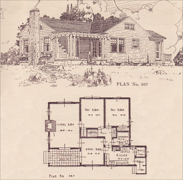modern colonial cottage - 1924 - house plans - the portland