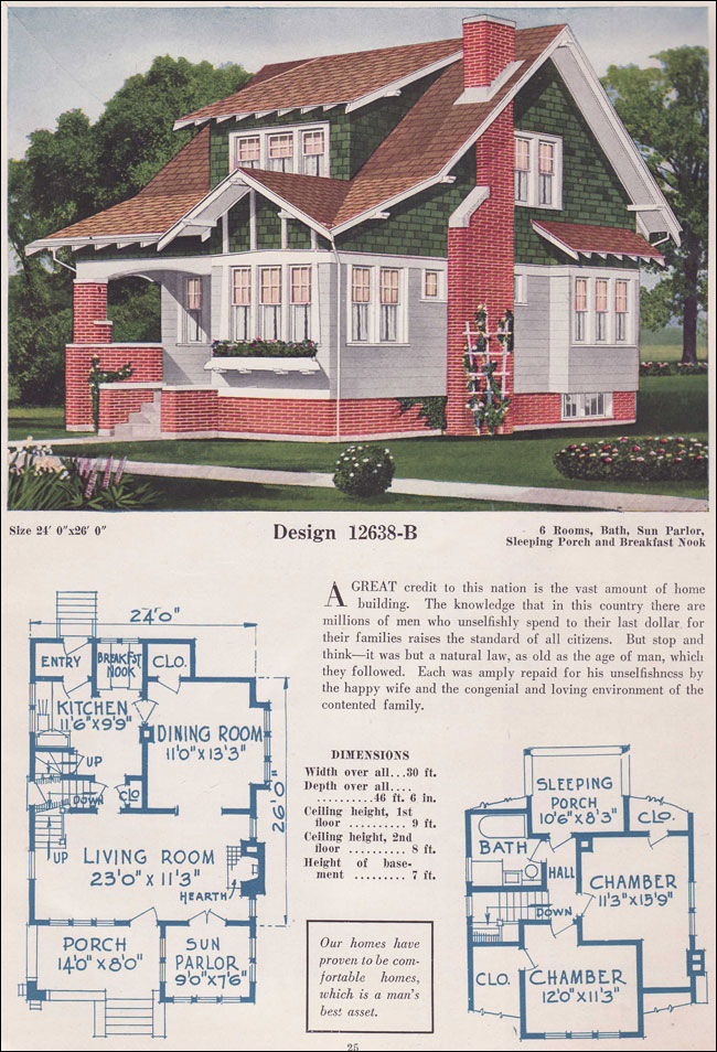 1925 Bungalow C L Bowes Brick And Shingle Shed Dormer