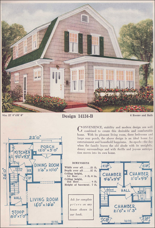 gambrel roof home plans