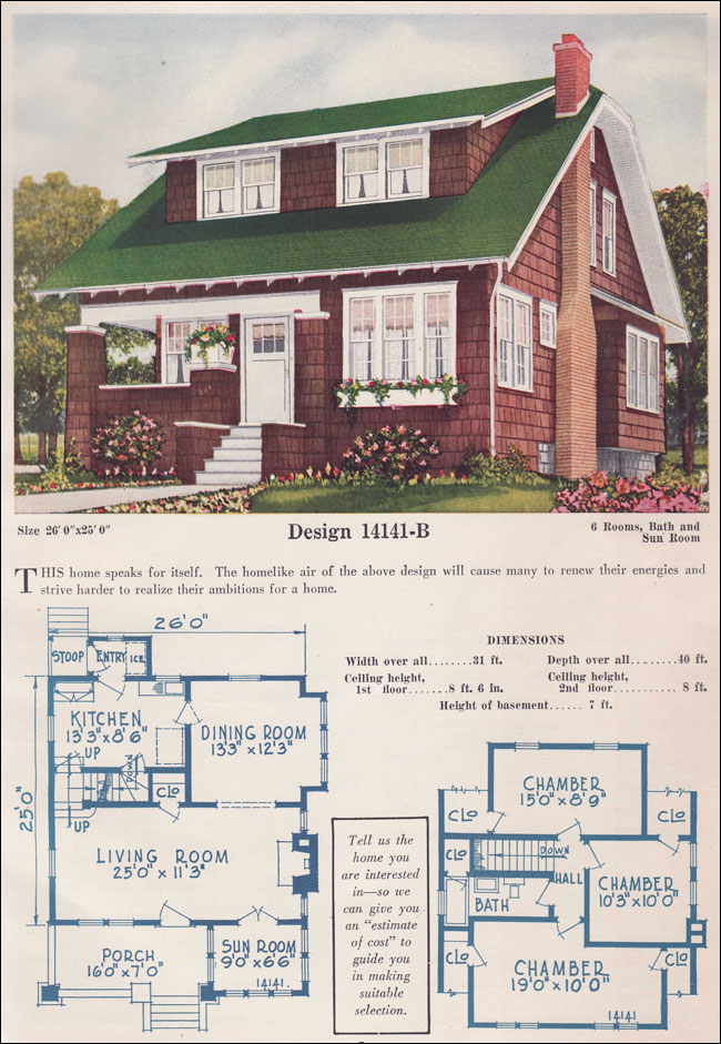 Clipped Gable Bungalow Story And A Half Shingle Style