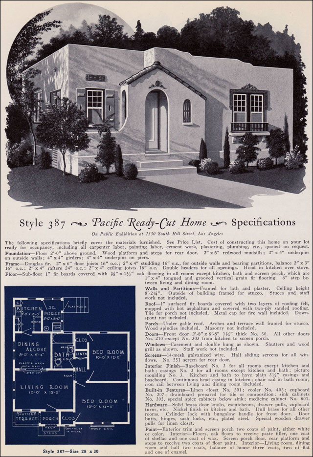 1925 eclectic spanish style california cottage pacific for Ready made house plans