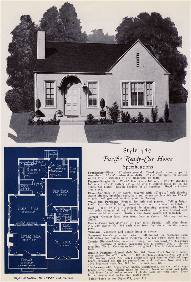 1925 Pacific Ready Cut Homes - No. 487