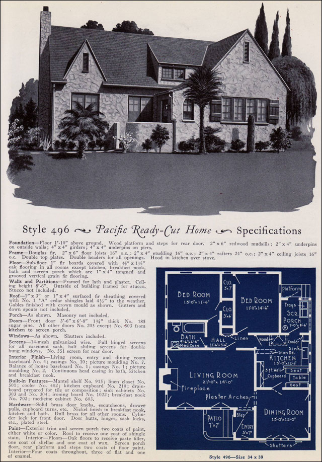 1925 Pacific Ready Cut Homes English