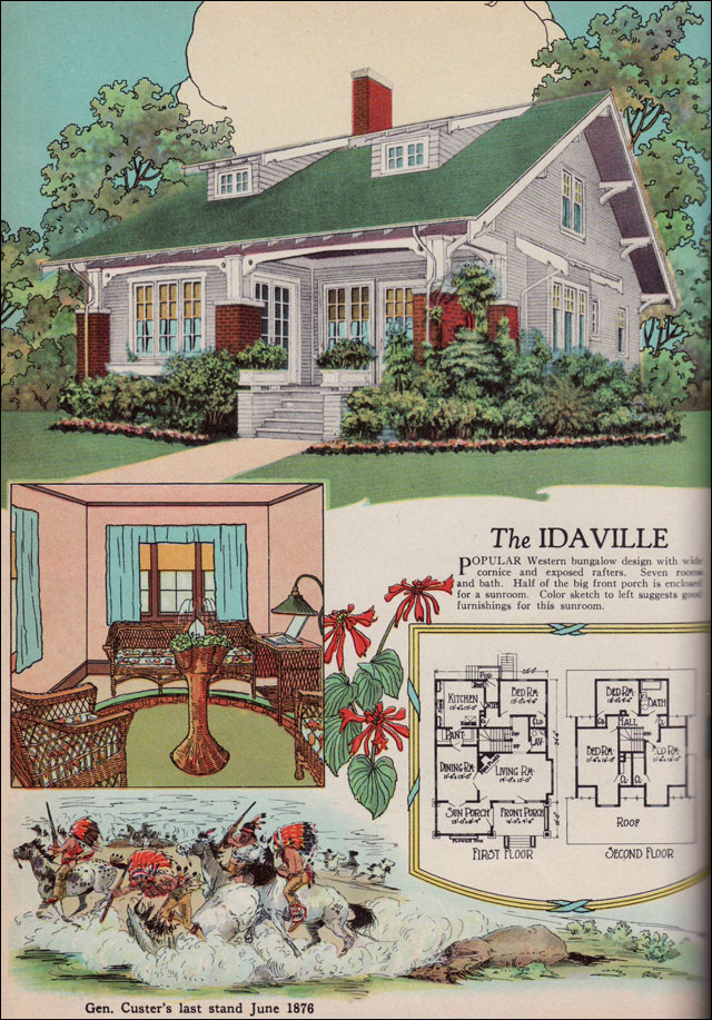 1920s american residential architecture 1925 american for Home building magazines