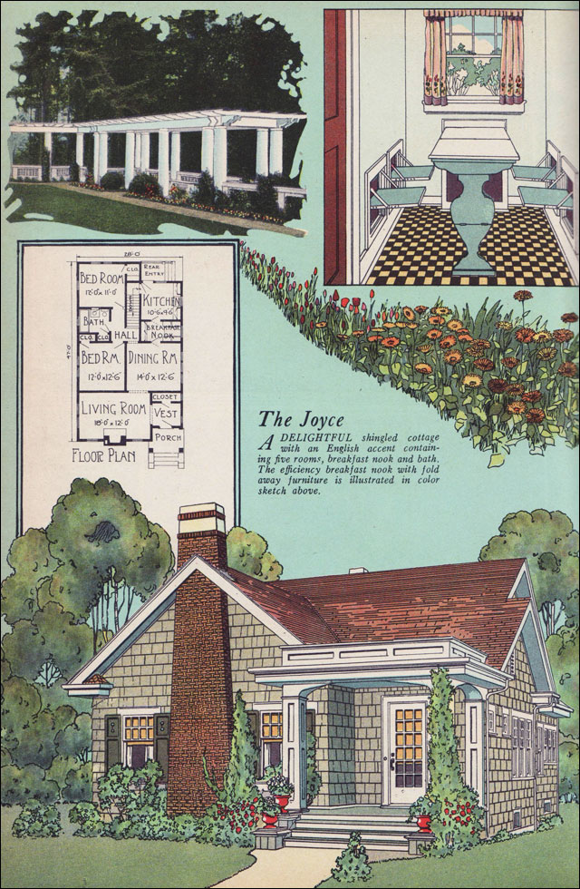 The joyce by william a radford 1925 american builder for Builder magazine house plans