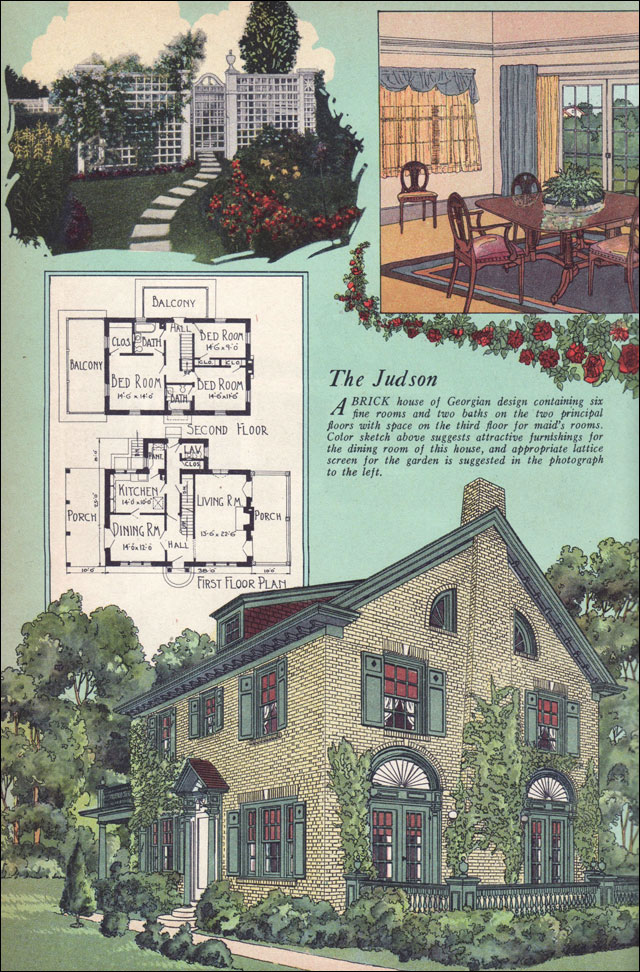 1925 American Builder Magazine House Plans Colonial