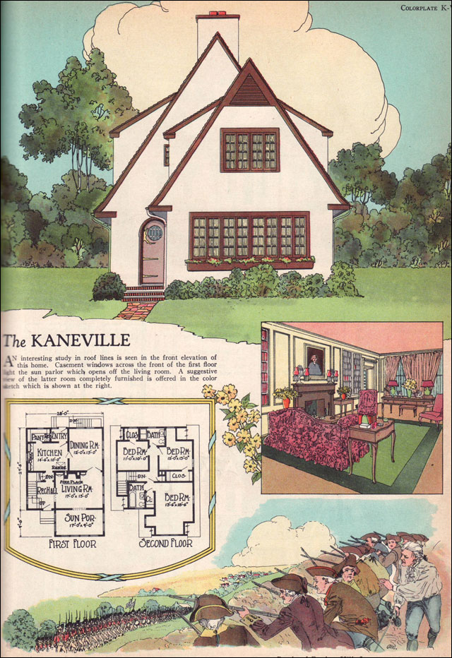 1925 kaneville by american builder magazine english American home builder