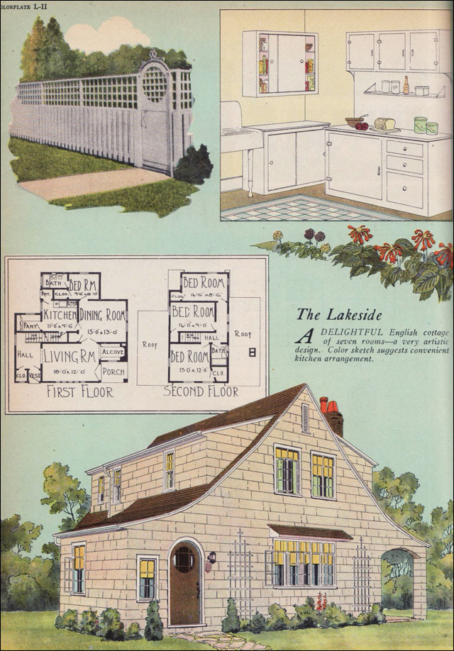 1925 artistic english cottage american builder magazine for Home building magazines