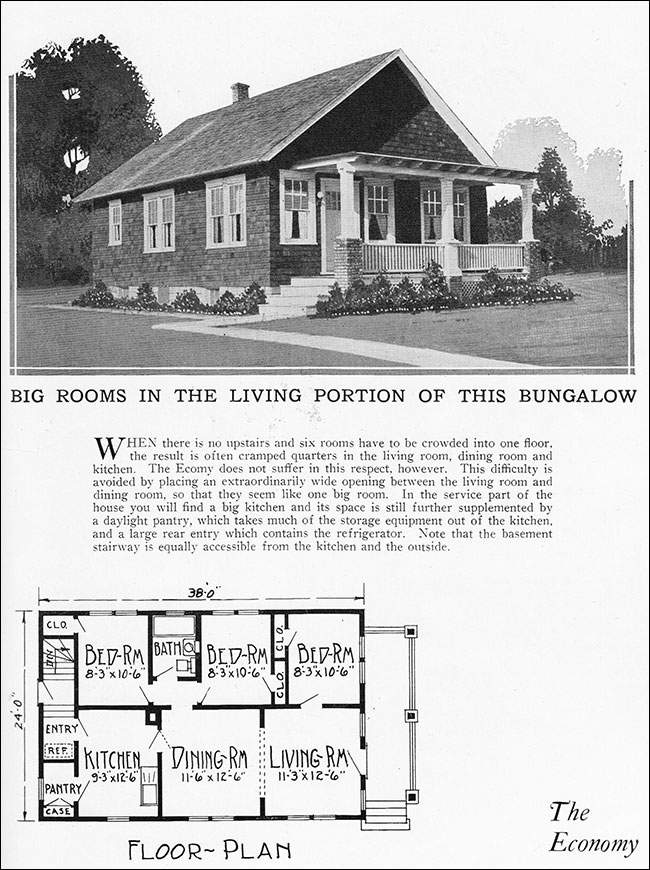 Tiny Vintage House Plan For A Simple Bungalow Radford 39 S