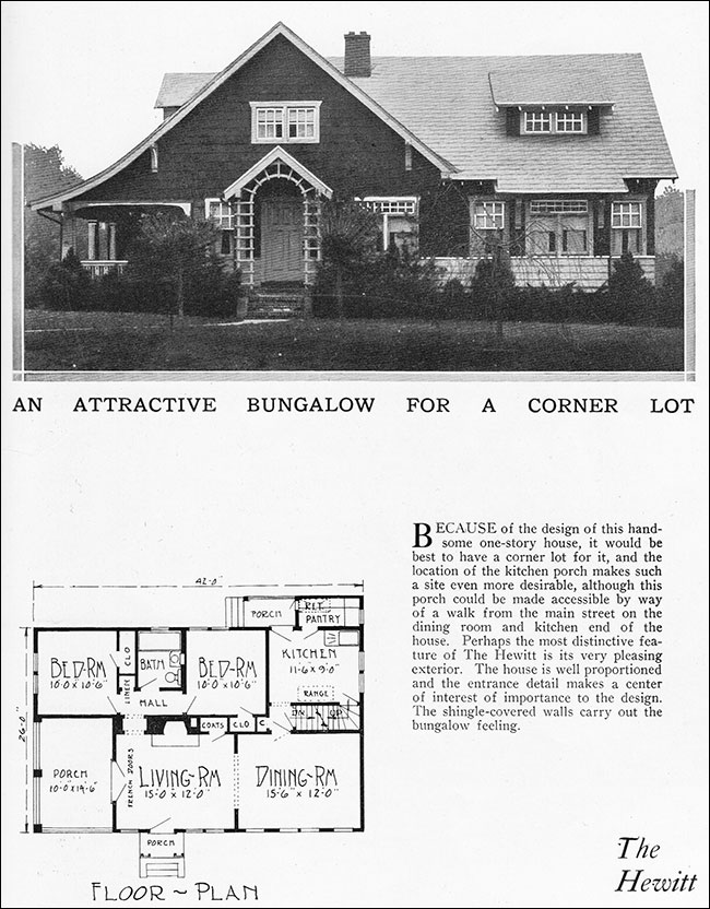 1925 modern two bedroom bungalow radford home builders for 1925 house styles