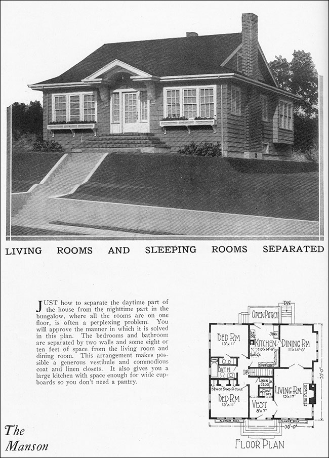 Modern 1925 traditional bungalow house plan radford for 1925 bungalow floor plan