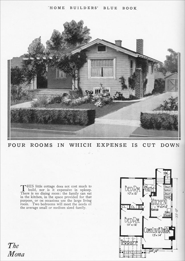 1925 small bungalow vintage house plan for a tiny home for 1925 bungalow floor plan