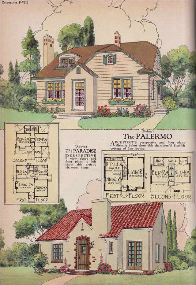 The 1926 Palermo And Paradise Plans William A Radford 1920s House Plans American