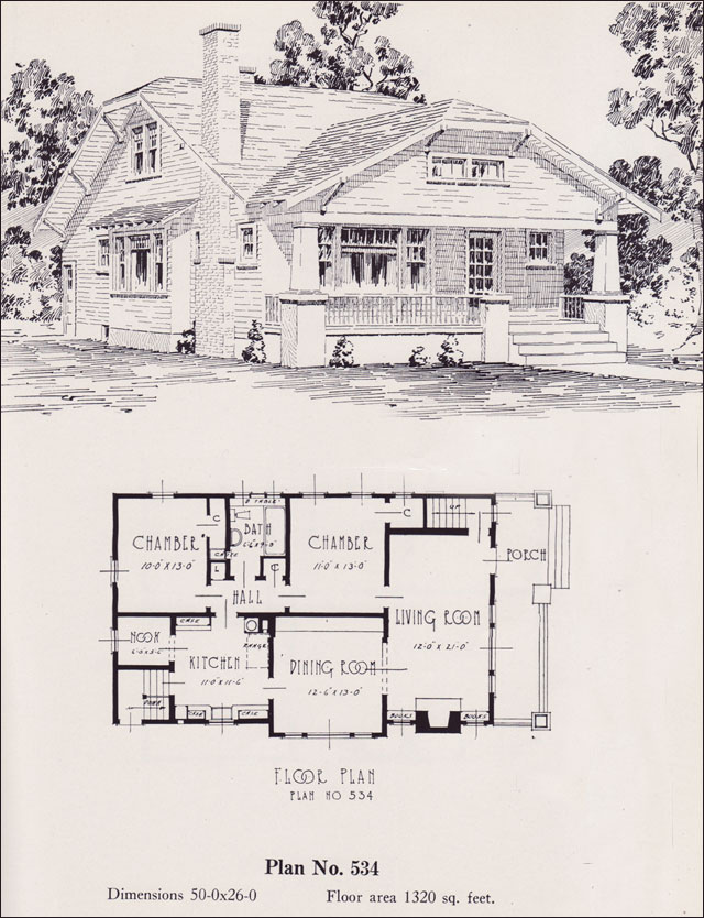 Modernized Bungalow 1926 Universal Plan Service No