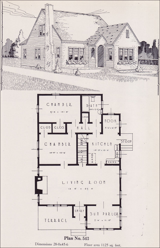Modern american cottage 1926 universal plan service no for Universal house plans