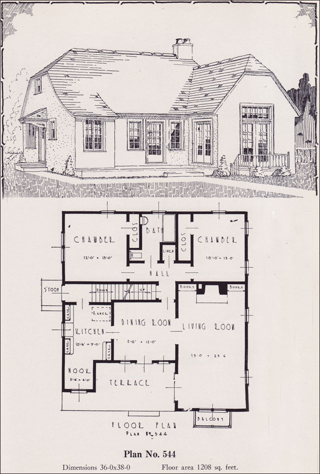 Modern american cottage 1926 universal plan service no Universal house plans
