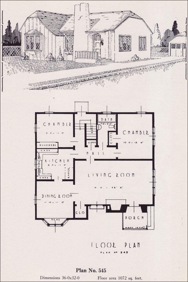Storybook cottage 1926 universal plan service no 545 Universal house plans