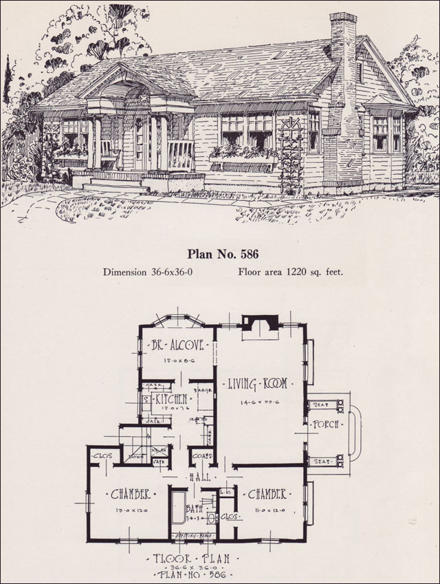 Colonial Revival Cottage - 1926 Universal Plan Service - No. 586 ...
