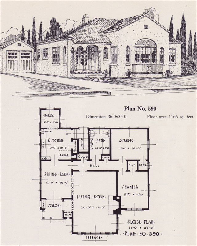 Spanish Revival Style Home - 1926 Universal Plan Service - No. 543 ...