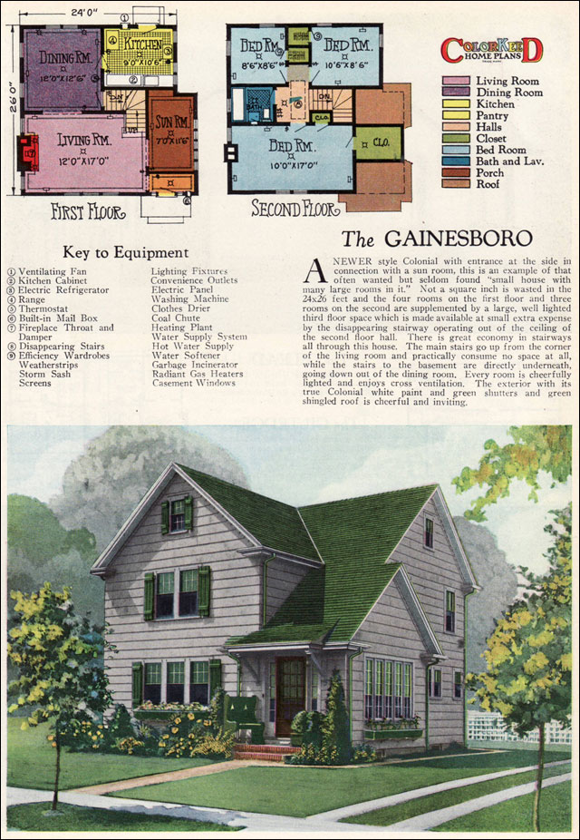 1927 gainsboro two story modern colonial vintage 1920s for Modern home builder magazine