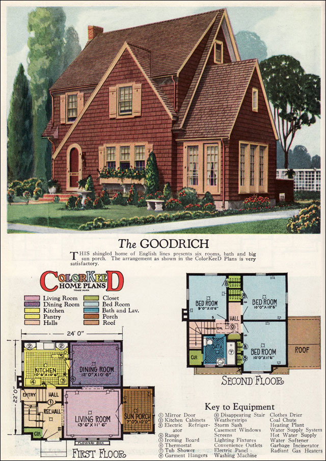 1927 goodrich english revival cottage william a for Vintage bungalow house plans