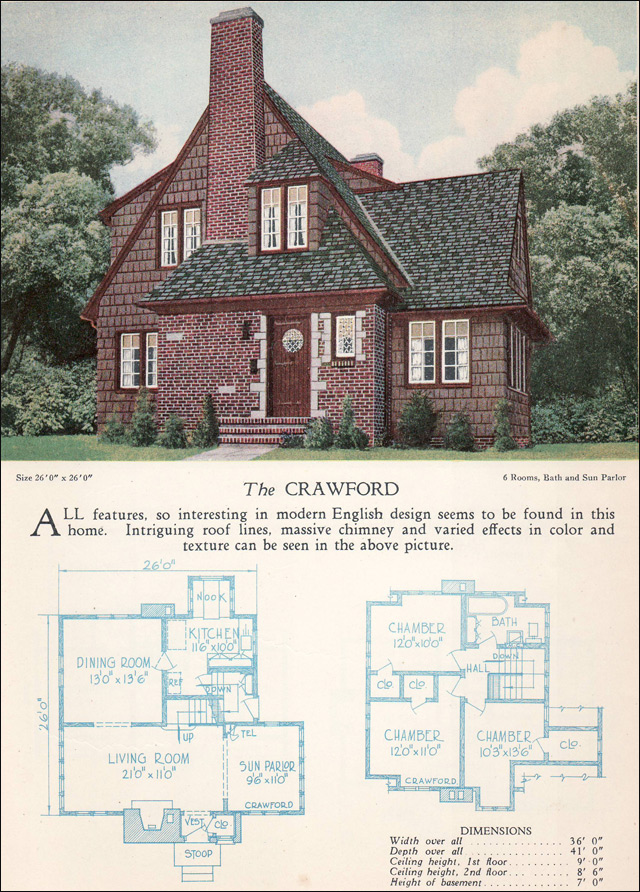 1928 Home Builders Catalog - Crawford
