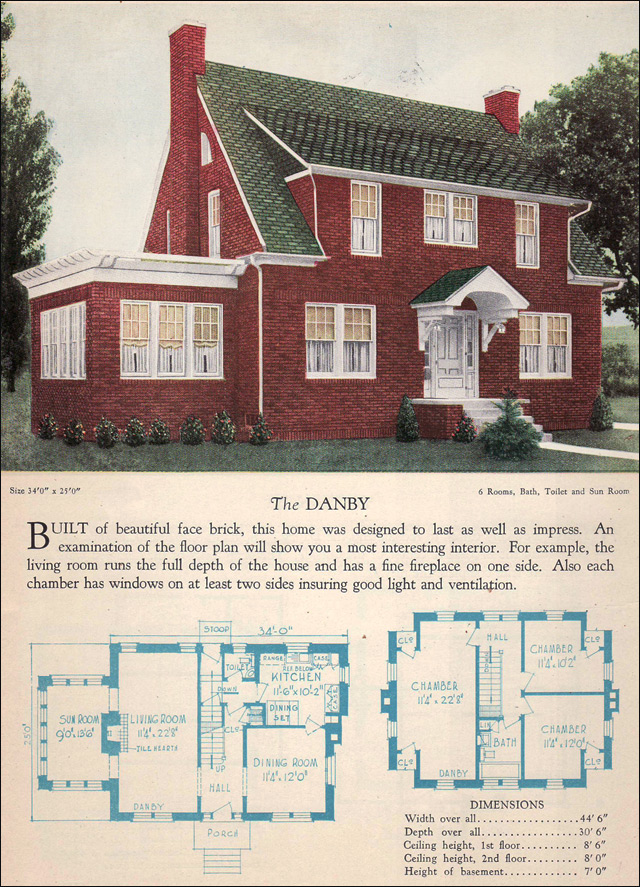 The Danby 1928 Home Builders Catalog Face Brick